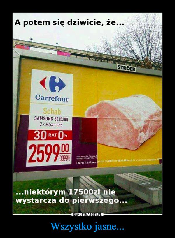 Wszystko jasne... –  A potem dziwicie się, że niektórym 17500 zł nie wystarcza do pierwszego Carrefour