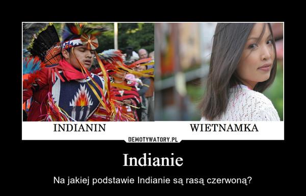 Indianie – Na jakiej podstawie Indianie są rasą czerwoną?