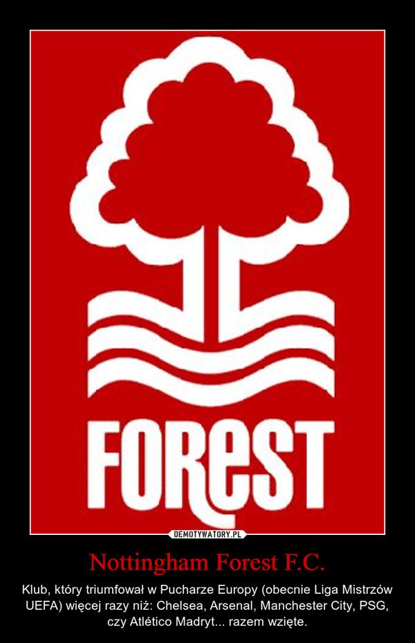 Nottingham Forest F.C. – Klub, który triumfował w Pucharze Europy (obecnie Liga Mistrzów UEFA) więcej razy niż: Chelsea, Arsenal, Manchester City, PSG, czy Atlético Madryt... razem wzięte.
