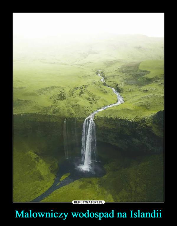 Malowniczy wodospad na Islandii –