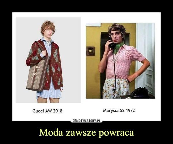 Moda zawsze powraca –  Gucci AW 2018 Marysia SS 1972