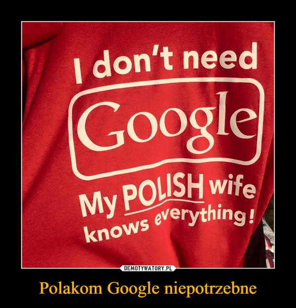 Polakom Google niepotrzebne –  I don't need GoogleMy POLISH wife knows everything!
