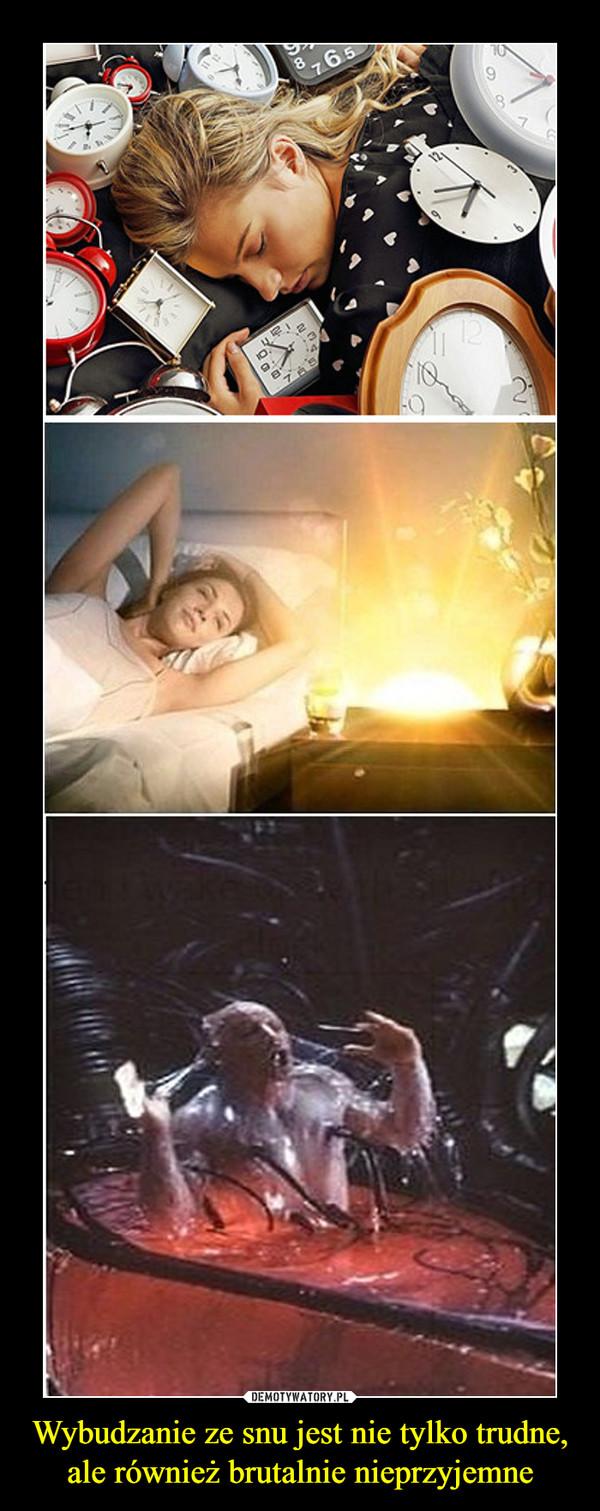 Wybudzanie ze snu jest nie tylko trudne, ale również brutalnie nieprzyjemne –