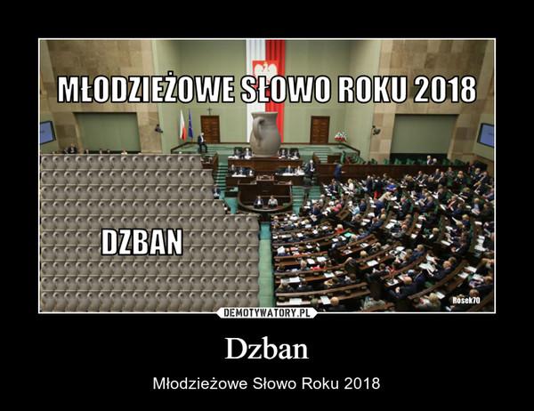 Dzban – Młodzieżowe Słowo Roku 2018