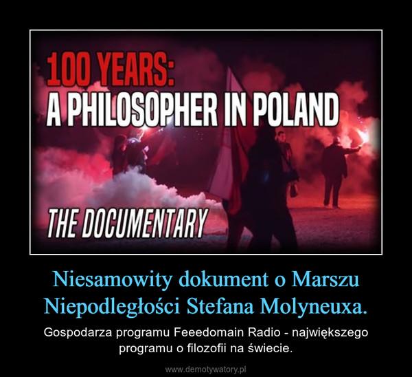 Niesamowity dokument o Marszu Niepodległości Stefana Molyneuxa. – Gospodarza programu Feeedomain Radio - największego programu o filozofii na świecie.