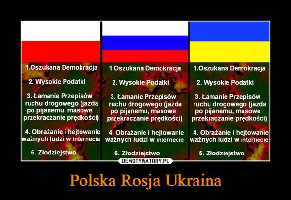 Polska Rosja Ukraina –