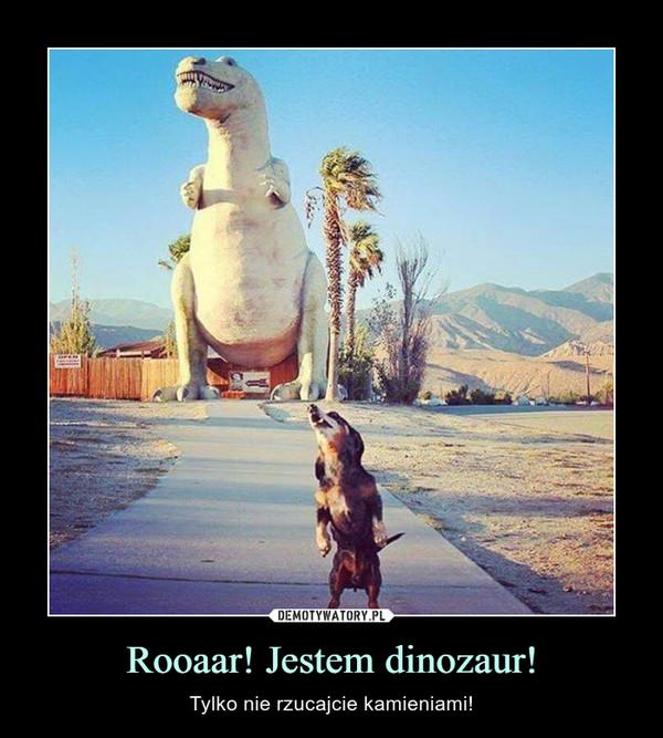 Rooaar! Jestem dinozaur! – Tylko nie rzucajcie kamieniami!