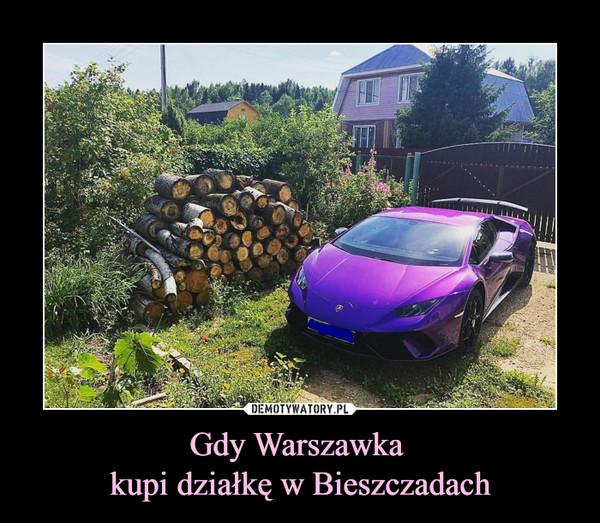 Gdy Warszawka kupi działkę w Bieszczadach –