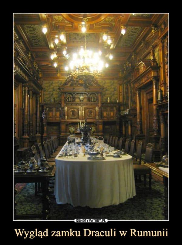 Wygląd zamku Draculi w Rumunii –