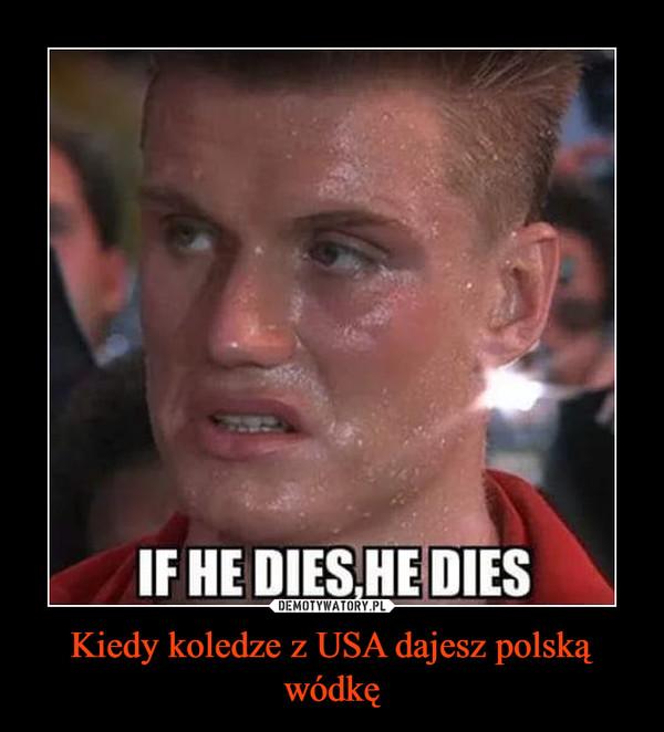 Kiedy koledze z USA dajesz polską wódkę –
