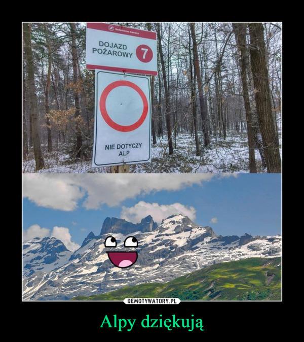 Alpy dziękują –