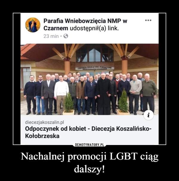 Nachalnej promocji LGBT ciąg dalszy! –