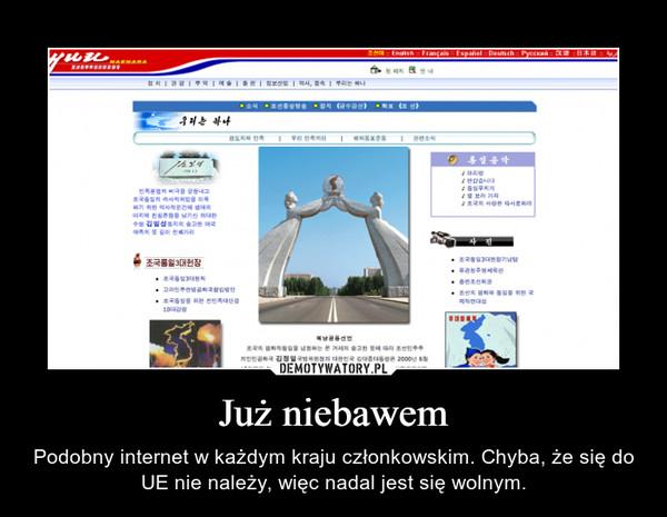 Już niebawem – Podobny internet w każdym kraju członkowskim. Chyba, że się do UE nie należy, więc nadal jest się wolnym.