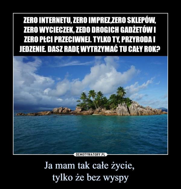 Ja mam tak całe życie, tylko że bez wyspy –  ZERO INTERNETU, ZERO SKLEPÓW, ZERO WYCIECZEK, ZEDO DROGICH GADŽETÓW I ZERO PtCl PRZECIWNEJ. TYLKO TY PRZYRODA I JEDZENIE DASZ RADĘ WYTRZYMAĆ TU CAŁY ROK?