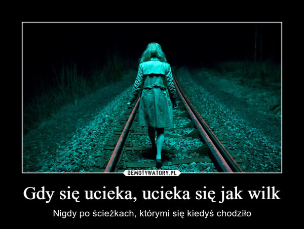 Gdy się ucieka, ucieka się jak wilk – Nigdy po ścieżkach, którymi się kiedyś chodziło