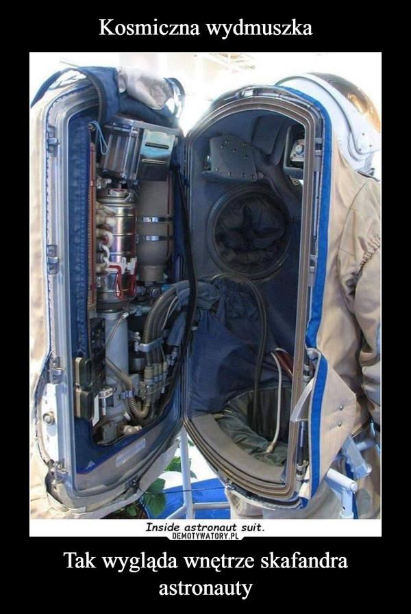 Tak wygląda wnętrze skafandra astronauty –