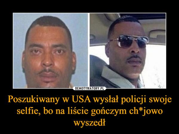 Poszukiwany w USA wysłał policji swoje selfie, bo na liście gończym ch*jowo wyszedł –