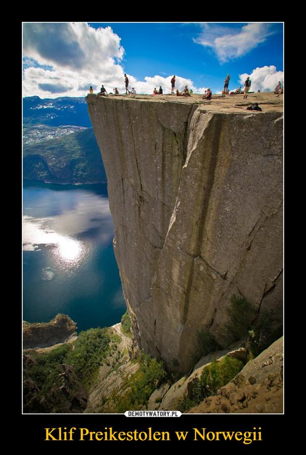 Klif Preikestolen w Norwegii –