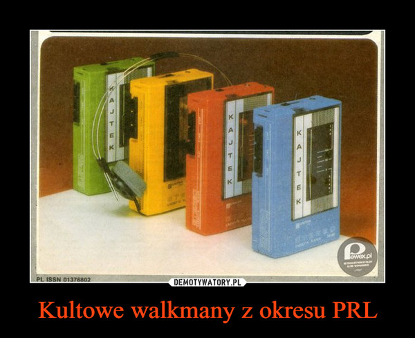 Kultowe walkmany z okresu PRL –