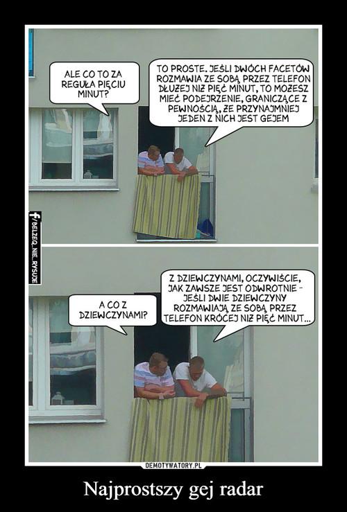 Najprostszy gej radar