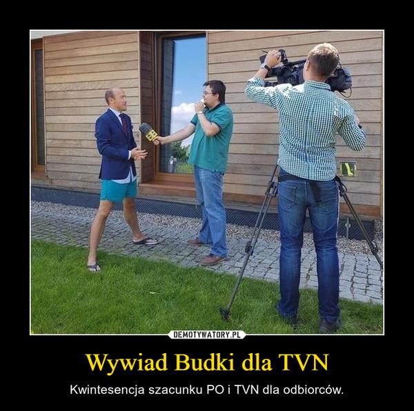 Wywiad Budki dla TVN – Kwintesencja szacunku PO i TVN dla odbiorców.