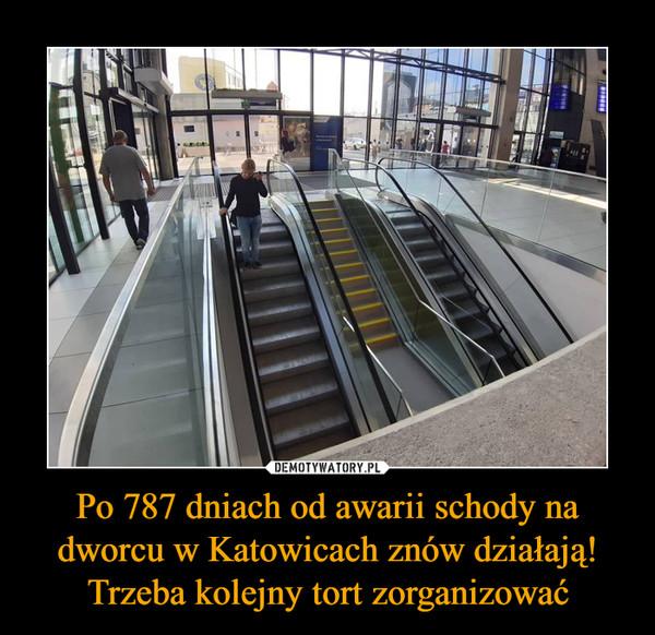 Po 787 dniach od awarii schody na dworcu w Katowicach znów działają! Trzeba kolejny tort zorganizować –