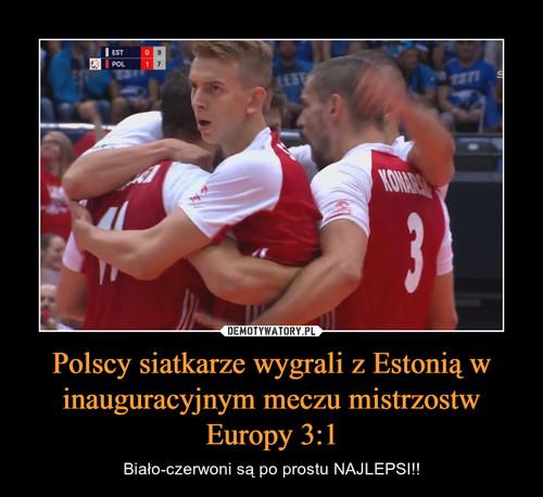 Polscy siatkarze wygrali z Estonią w inauguracyjnym meczu mistrzostw Europy 3:1