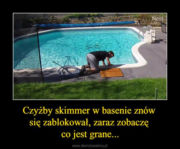 Czyżby skimmer w basenie znów się zablokował, zaraz zobaczę co jest grane... –