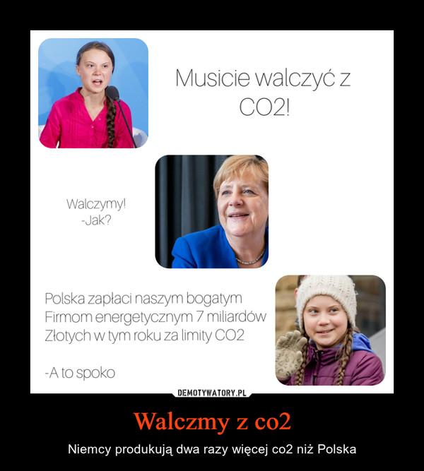 Walczmy z co2 – Niemcy produkują dwa razy więcej co2 niż Polska