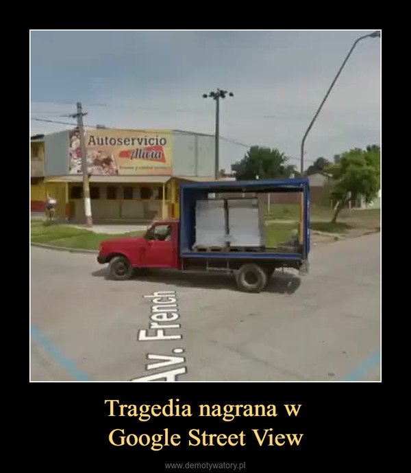 Tragedia nagrana w Google Street View –