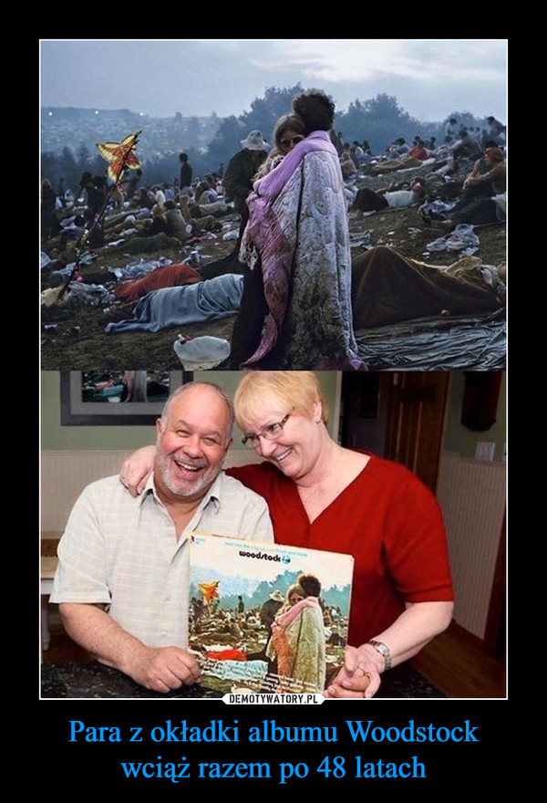 Para z okładki albumu Woodstockwciąż razem po 48 latach –