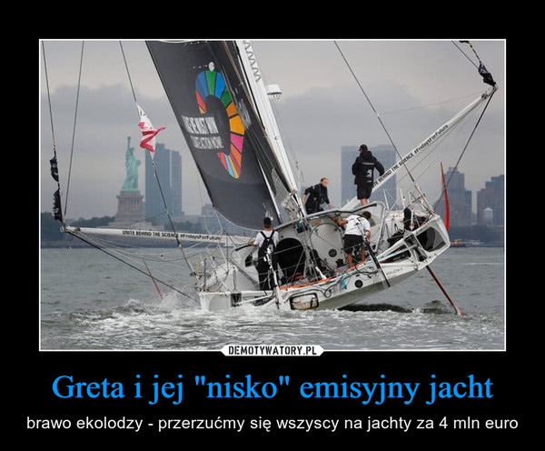 """Greta i jej """"nisko"""" emisyjny jacht – brawo ekolodzy - przerzućmy się wszyscy na jachty za 4 mln euro"""
