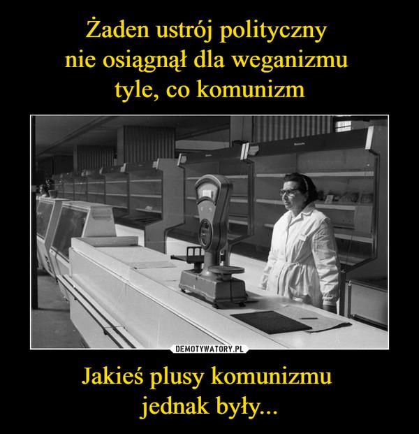 Jakieś plusy komunizmu jednak były... –
