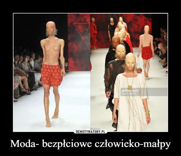 Moda- bezpłciowe człowieko-małpy –