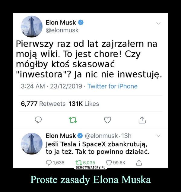 Proste zasady Elona Muska –