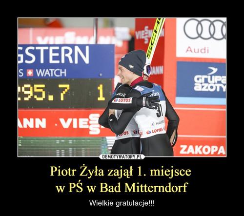Piotr Żyła zajął 1. miejsce  w PŚ w Bad Mitterndorf