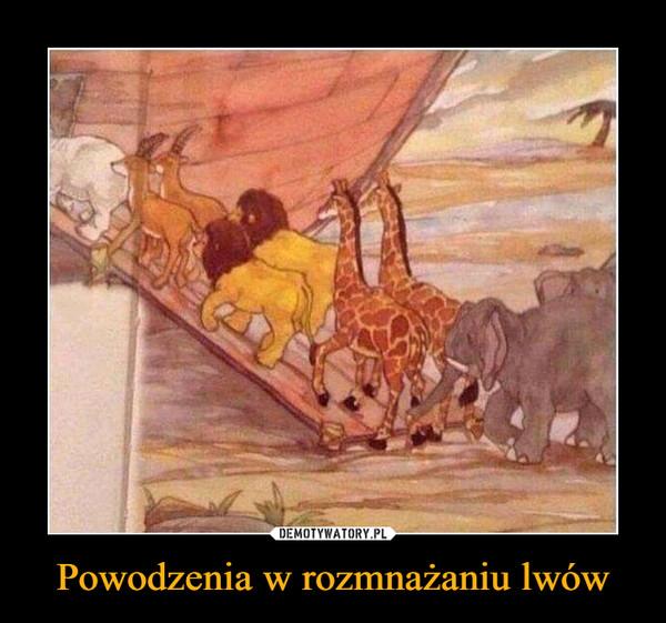 Powodzenia w rozmnażaniu lwów –