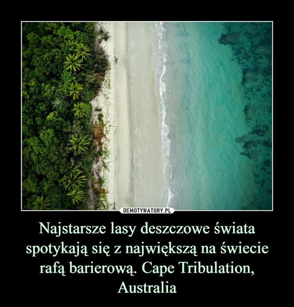 Najstarsze lasy deszczowe świata spotykają się z największą na świecie rafą barierową. Cape Tribulation, Australia –