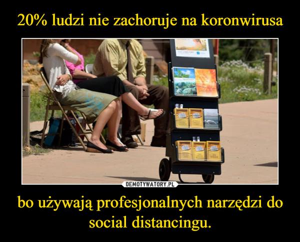 bo używają profesjonalnych narzędzi do social distancingu. –