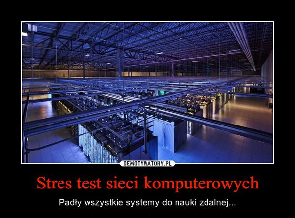 Stres test sieci komputerowych – Padły wszystkie systemy do nauki zdalnej...