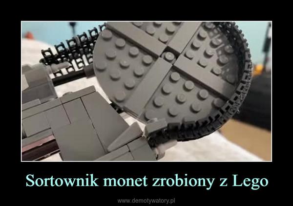 Sortownik monet zrobiony z Lego –