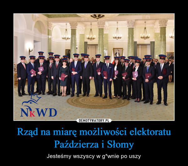 Rząd na miarę możliwości elektoratu Paździerza i Słomy – Jesteśmy wszyscy w g*wnie po uszy