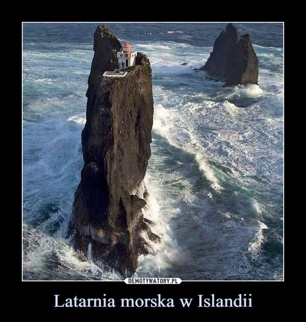 Latarnia morska w Islandii –