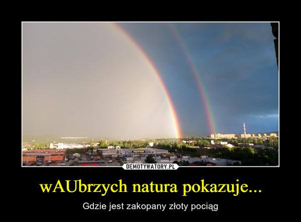 wAUbrzych natura pokazuje... – Gdzie jest zakopany złoty pociąg