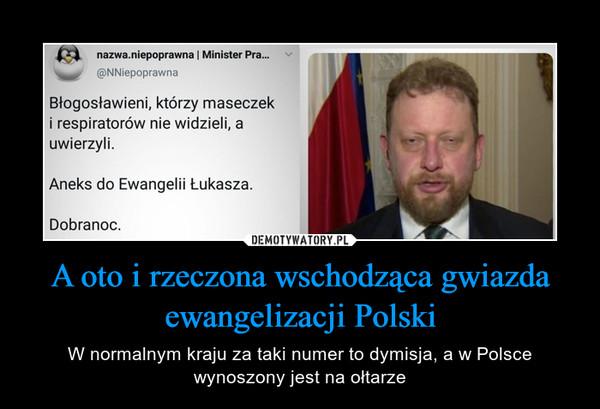 A oto i rzeczona wschodząca gwiazda ewangelizacji Polski – W normalnym kraju za taki numer to dymisja, a w Polsce wynoszony jest na ołtarze