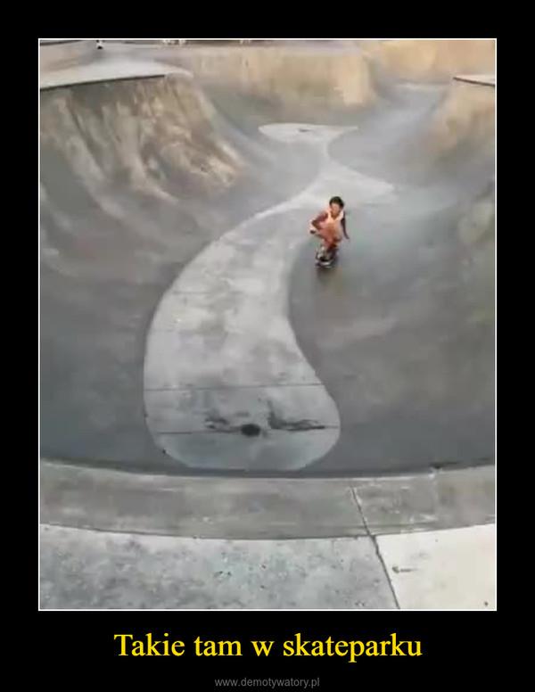 Takie tam w skateparku –