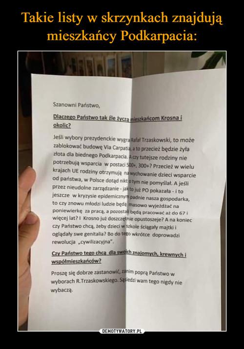 Takie listy w skrzynkach znajdują mieszkańcy Podkarpacia: