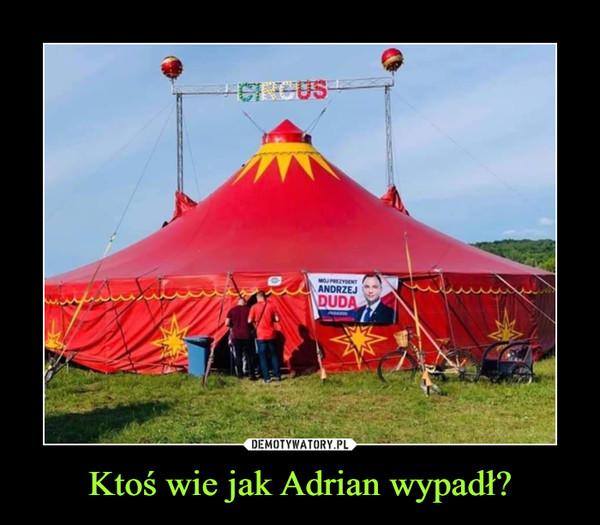 Ktoś wie jak Adrian wypadł?
