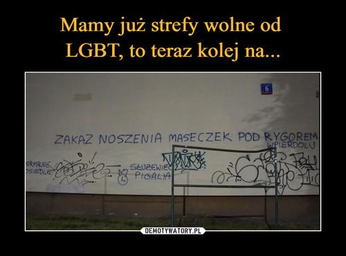 Mamy już strefy wolne od  LGBT, to teraz kolej na...
