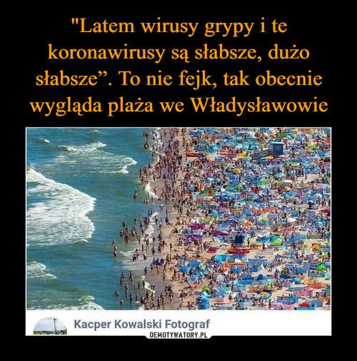 """""""Latem wirusy grypy i te koronawirusy są słabsze, dużo słabsze"""". To nie fejk, tak obecnie wygląda plaża we Władysławowie"""